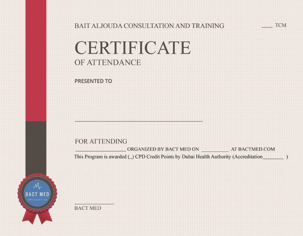 Bactmed certificate sample